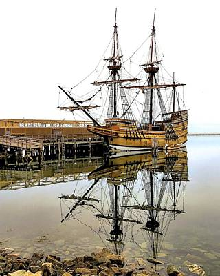 Mayflower II Reflections Art Print