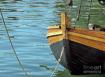Seascapes Photograph - Mayflower II Shallop by Janice Drew