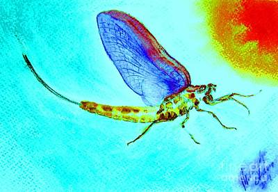 Heightened Painting - Mayfly 7 by Ronald Oliver