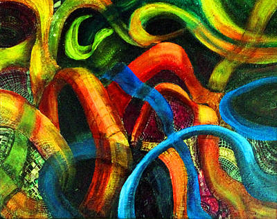 Intertwining Painting - Mayhem by Deb Wolf