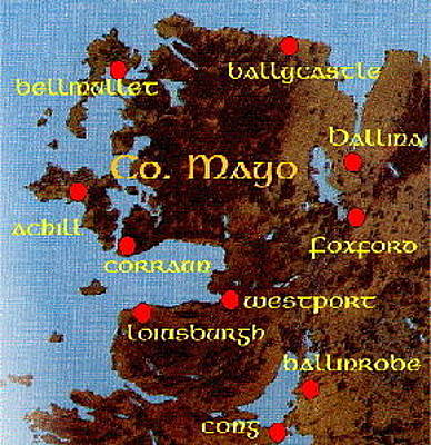 Digital Art - Mayo Places by Val Byrne