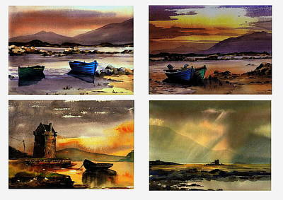 Painting - Mayo Sunsets by Val Byrne