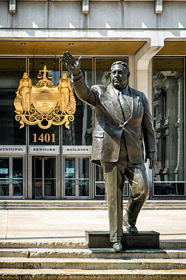 Photograph - Mayor Frank L. Rizzo Monument by Boris Mordukhayev