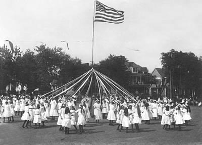 Sacramento Photograph - Maypole Dance by Underwood Archives