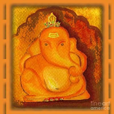 Painting - Mayureshwar Ganesha Ashtavinayaka by Anjali Vaidya