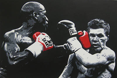 Painting - Mayweather Vs Hatton by Geo Thomson