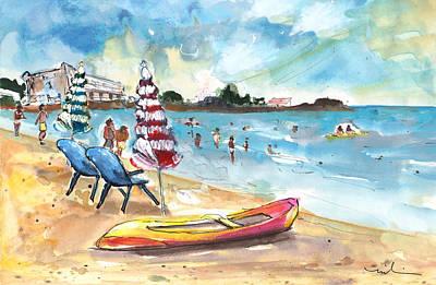 Canoe Drawing - Mazarron Beach 03 by Miki De Goodaboom