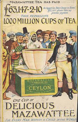 Mazawattee 1890s Uk John Bull Tea Art Print by The Advertising Archives