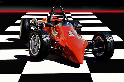 Indy Car Photograph - Mazda - Indy Training Car by Dave Koontz