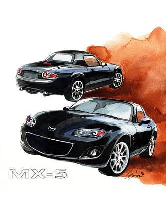 Mazda Mx-5 Art Print by Yoshiharu Miyakawa