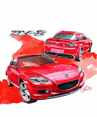 Mazda Rx-8 Art Print by Yoshiharu Miyakawa