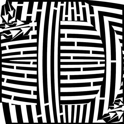 Alphabet Mazes Digital Art - Maze Font Capital D by Yonatan Frimer Maze Artist