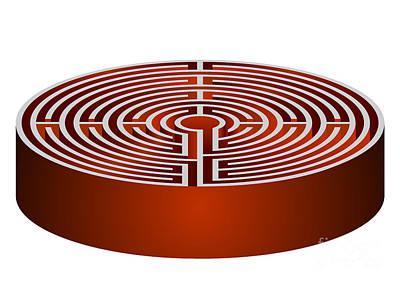 Chaos Maze Digital Art - Maze - Labrinth by Michal Boubin