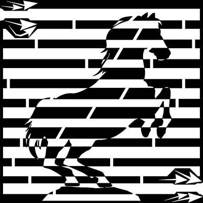 Drawing - Maze Of 746 Watts 1 Horsepower Maze  by Yonatan Frimer Maze Artist