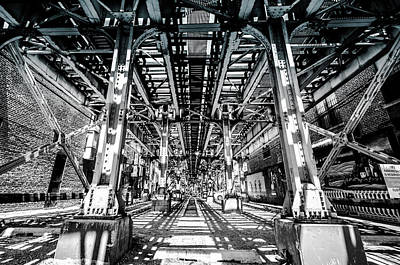 Photograph - Maze Of Iron - Black And White by Anthony Doudt