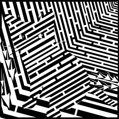 Maze Of Snarly The Cat Art Print by Yonatan Frimer Maze Artist