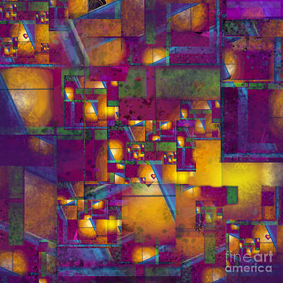 Digital Art - Maze Of The Heart by Carol Jacobs