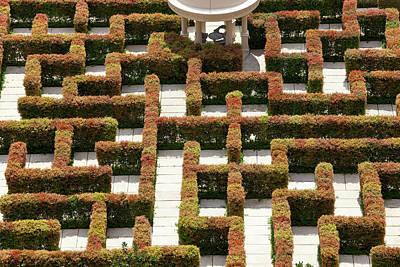 Maze Puzzle Photograph - Maze, Singapore, Se Asia by Peter Adams