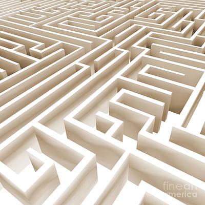 Maze Art Digital Art - Maze by Stefano Senise