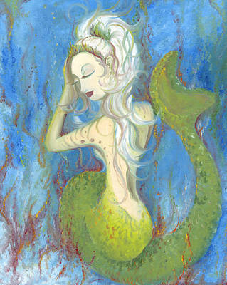 Painting - Mazzy The Mermaid Princess by Stephanie Broker