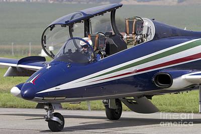 Cockpit Photograph - Mb-339apan Of The Frecce Tricolori by Luca Nicolotti