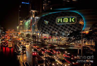 Traffic Digital Art - Mbk Bangkok  by Adrian Evans