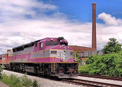 Photograph - Mbta Train by Janice Drew