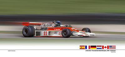 Mc Laren M23 Hunt Art Print