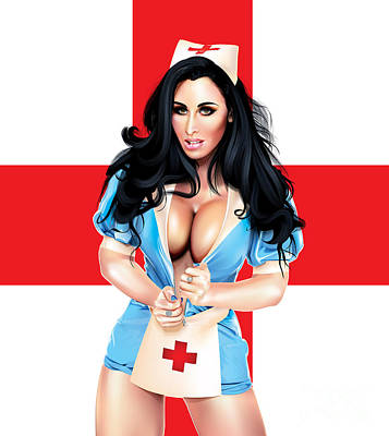 Digital Art - Mc Nurse V2 by Brian Gibbs