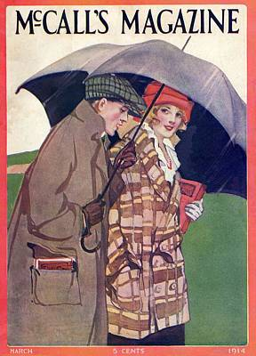 Rain Hat Painting - Mccalls Vintage Magazine March 1914 by Movie Poster Prints