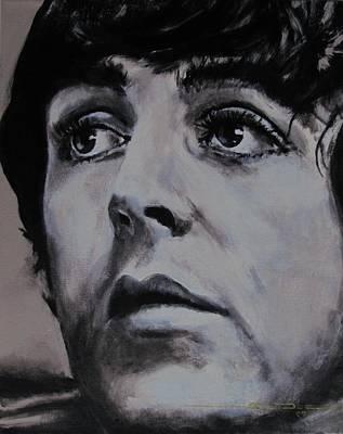 Paul Mccartney Portrait Painting - Mccartneys Eyes by Eric Dee