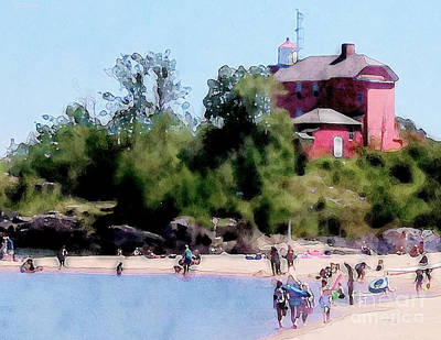 Michigan Digital Art - Mccartys Cove by Phil Perkins
