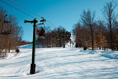 Photograph - Mccauley Mountain Ski Area V- Old Forge New York by David Patterson