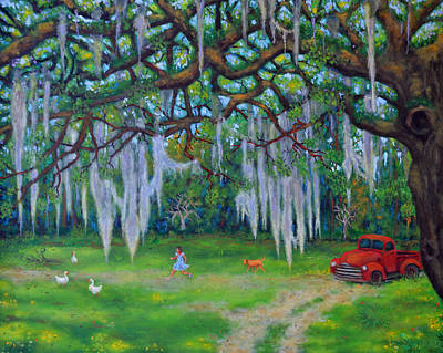 Painting - Mcclellanville Goose Chase by Dwain Ray