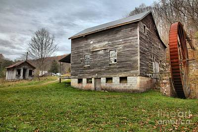 Photograph - Mcclung's Grist Mill Landscape by Adam Jewell