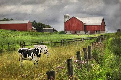 Rural Scenes Digital Art - Mcclure Farm by Lori Deiter