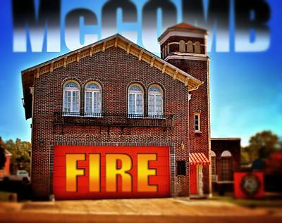 Photograph - Mccomb Fire by Jim Albritton