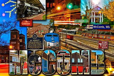 Mccomb Mississippi Postcard 2 Art Print