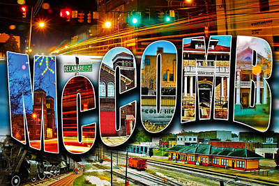 Photograph - Mccomb Mississippi Postcard by Jim Albritton