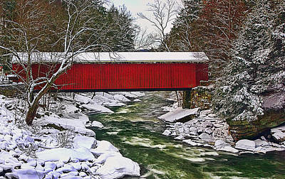 Grist Mill Photograph - Mcconnells Covered Bridge by Marcia Colelli