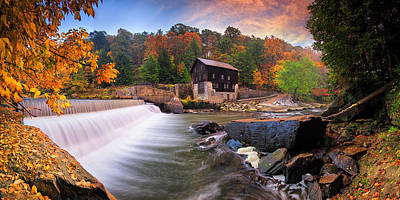 Photograph - Mcconnell's Mill Panorama  by Emmanuel Panagiotakis
