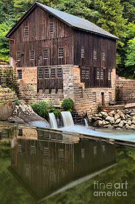 Mcconnells Mill Reflections Art Print by Adam Jewell
