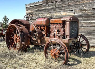 Okanogan Photograph - Mccormick-deering Hand-crank Start Tractor by Daniel Hagerman
