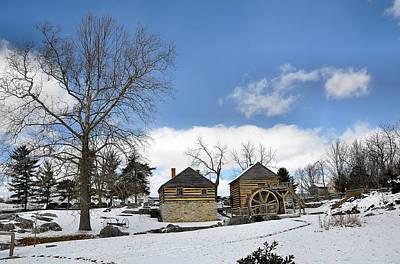 Mccormick Farm In Winter Art Print by Todd Hostetter