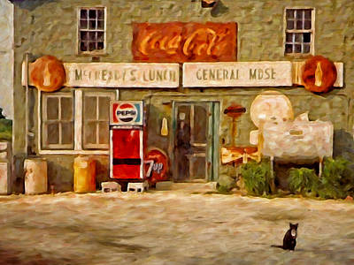 Seven-up Sign Painting - Mccready's by Michael Pickett