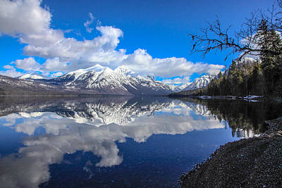 Montana Landscapes Photograph - Mcdonald Reflecting by Aaron Aldrich