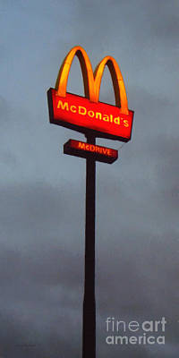 Fastfood Restaurant Photograph - Mcdonald's - Painterly - V2 by Wingsdomain Art and Photography