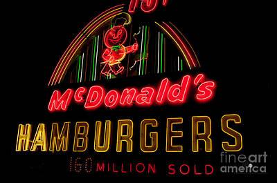 Photograph - Mcdonalds Sign by Ronald Grogan