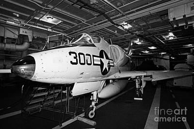 Tinker Toy Photograph - Mcdonnell Douglas A4b A4 Skyhawk On The Hangar Deck Of The Intrepid Sea Air Space Museum by Joe Fox