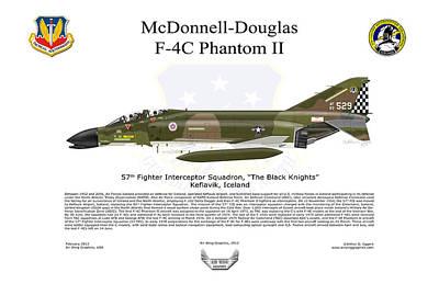 F-4c Digital Art - Mcdonnell Douglas F-4c 57th Fis by Arthur Eggers